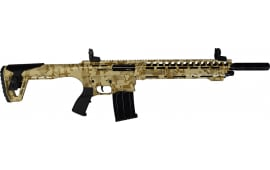 "AR-12 Semi Auto, AR-15 Style 12GA Shotgun by Panzer Arms of Turkey, 3"" Chambers - Special Desert Camo Cerakote Finish"