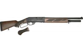 "Black Aces Tactical Pro Series-L Lever Action Shotgun 18.5"" Barrel 12-GA 6 Round - Black Receiver W / Walnut Furniture - BATPSLW"