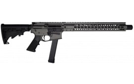 "Brigade MFG BM-9 Forged 9mm AR Rifle 16"" BBL 15"" U-Rail, Tungsten Grey Cerakote Finish, Adjustable 6 Position Stock - W / 1-33 Rd O.E.M. Glock Magazine & Shooters Package"