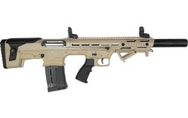 "Panzer Arms BP-12 Gen-2 Semi-Automatic Bullpup Shotgun - FDE - 20"" Barrel 12 GA 3"" Chamber - 5rd Magazine - PZRBP12G2BSDT"