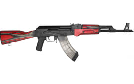 "Century Arms VSKA Semi-Automatic AK-47 Rifle 16"" Barrel 7.62X39 30rd - Red and Grey/ Black Accent Laminated Furniture - RI4082-N"