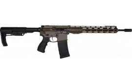 "Fostech Phantom Premium Light Weight 5.56 AR15 Rifle with AR II Echo Trigger Installed - 13"" Mach II Rails - Patriot Brown Finish"