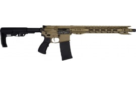 "Fostech Eagle Premium Light Weight 5.56 AR15 Rifle with AR-II Echo Trigger Installed - 16.5"" Slim Profile BBl, 16"" Mach 1 Rails - Flat Dark Earth Finish"