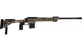 "MasterPiece Arms 308BATAN Bolt Action 308 Win/7.62 NATO 24"" 10+1 MasterPiece Arms Tactical Chassis Aluminum Tan Stock Tan Cerakote"