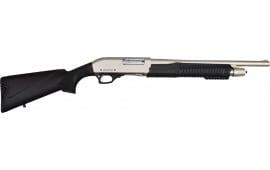 "Rock Island Armory PA 3-IN-1 12GA Pump Action Shotgun Combo 28""/18"" Chrome 4rd Black Synthetic"