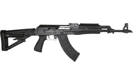 "Zastava Arms ZPAP M70 AK-47 Rifle 7.62x39 30rd - New 16.3"" Chrome-Lined Barrel, 1.5mm Receiver and Bulged Trunnion, Black Furniture - ZR7762BM"