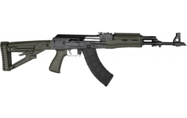 "Zastava Arms ZPAP M70 AK-47 Rifle 7.62x39 30rd - New 16.3"" Chrome-Lined Barrel, 1.5mm Receiver and Bulged Trunnion - OD Green Furniture - ZR7762GM"