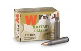 Wolf MC22362HP Military Classic 223 Remington 62 GR HP - 500rd Case