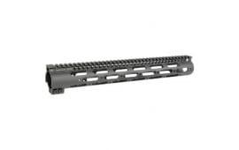 Midwest Industries SSM-Series One Piece Free Float Handguard, M-LOK Compatible Black  - MISSM15G3