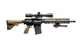 "H&K MR762A1 Long Rifle Package 16.5"" Barrel 7.62X51 20rd - Includes Vortex Viper PSTII 3-15X44 FFP MRAD Scope, Bipod, BFG Sling, and Case - 81000498"