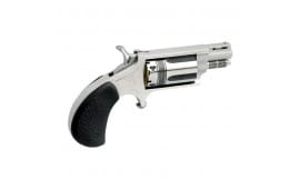 """North American Arms 22MSCTW .22 Magnum / 22LR Wasp Revolver, 1.13"""" Black Rubber Stainless - 22MSCTW"""