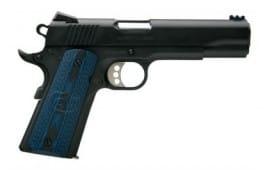 "Colt 1911 Competition Government Pistol, Single 9mm 5"" 9rd Blue G10 w/Logo Grip Black - O1982CCS"