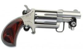 "NAA NAA22MSBBS MINI-REVOLVER 1-1/8"" S/S Matte Wood w/BELT Buckle Revolver"