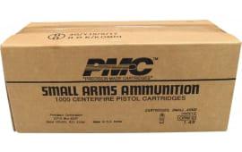 PMC 9G Bronze Target 9mm Ammunition 124 GR FMJ - Brass, Boxer, Re-Loadable - 1000 Round Case