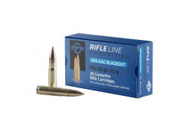 PPU PP300BF Standard Rifle 300 AAC Blackout/Whisper (7.62x35mm) 125 GR FMJ - 20rd Box
