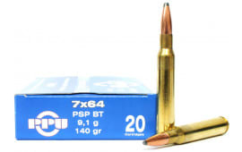 PPU PP303S2 Metric Rifle 7x64mm Brenneke 140 GR Pointed Soft Point Boat Tail - 20rd Box
