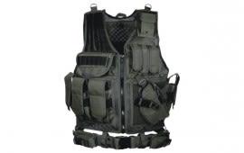 UTG 547 Law Enforcement Tactical Vest, Black - Right Handed PVC-V547BT