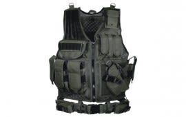 UTG 547 Law Enforcement Tactical Vest, Black - Right Handed PVC-V547BT