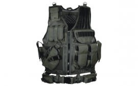 UTG 547 Law Enforcement Tactical Vest, Black - Left Handed PVC-V547BL