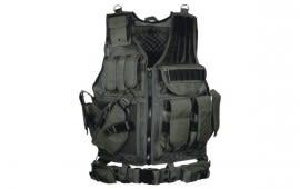UTG 547 Law Enforcement Tactical Vest, Black - Left Handed PVC-V547BL