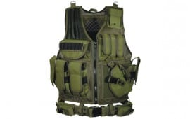UTG 547 Law Enforcement Tactical Vest, O.D. Green - Right Handed PVC-V547GT