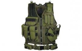 UTG 547 Law Enforcement Tactical Vest, O.D. Green - Right Handed PVC-V547GT