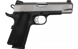 "Tisas M45 Semi-Automatic 1911 Pistol 4.25"" Barrel 8+1 45 ACP - Black Frame W/ Stainless Slide - GSK"