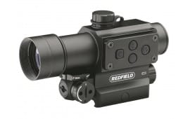 Redfield Counterstrike Tactical Red Dot Sight 30mm Tube 4 MOA Red and Green Dot with Integral Red Laser and Mount Model 117850