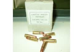 Romanian 7.62x25 86gr, Brass, Berdan, FMJ, 1980's Production Ammo - 72rd Box
