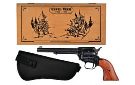"Heritage Arms Rough Rider Small Bore 22LR/22MAG Revolver, 6.5"" Presentation Box & Holster - RR22MB6BXHOL"