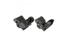 AR-15 Sight Set - Polymer Flip-up Front and Rear Sight - Black