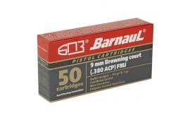 Barnaul 380 ACP - 94 Grain FMJ Ammunition Steel PolyCoated Casing - 1000 Round Case - BRN380AUTOFMJ94