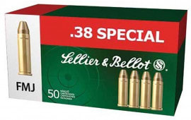 Sellier & Bellot SB38P Handgun 38 Special 158  GR FMJ - 50rd Box