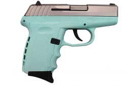 SCCY CPX-2TTSB, 9mm Polymer Frame Pistol, Satin Stainless Slide on SCCY blue finish, DAO 10+1 w/ 2 Mags