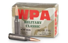 Wolf Military Classic 5.45x39 60gr FMJ Ammo - 30 Round Box