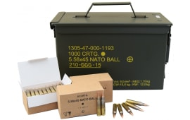 GG+G SS109 / GP21 Penetrator 5.56x45 NATO 62 GR Ammo in Factory Sealed M21A Can - 1000rd Can