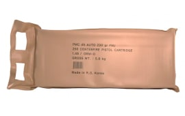 PMC 45ABP 250 Round Battle Pack, 45 ACP 230 GR Full Metal Jacket, Brass, Boxer, FMJ, N/C - 250rd Sealed Tin