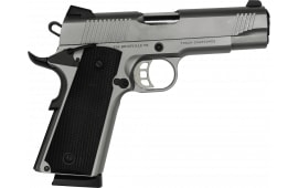 """Tisas 1911 Carry SS45 Duty 4.25"""" Barrel 8+1 .45ACP - Stainless Steel"""