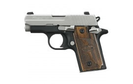 Sig Sauer P238 380 ACP Pistol, SAS Duo Tone NS Wood Grips 1 6rd - 238380SAS