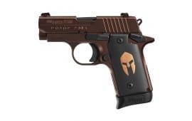 Sig Sauer P238 Spartan 380 ACP Pistol, ORB NS SAO 6rd - 238380SPARTAN