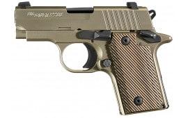 """Sig Sauer P238 380 ACP Pistol, 6rd 2.7"""" Nickel Vector Grips - 238380NI"""