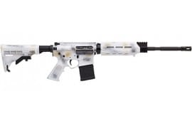 Alex Pro Firearms RI013SNO Arctic 223WYLDE 16 Optic Ready Snow Camo