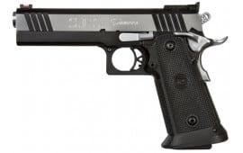 "SPS SPP9C Pantera SAO 9mm 5"" 21+1 Black Poly Grip Black Frame Black/Chrome Slide"