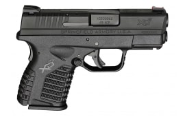 "Springfield XDS93345BE XD-S Essential 45 ACP DAO 3.3"" , 5+1 or 6+1 - Poly Grip/Frame Black"