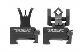 Troy SSIGNCNSTBT1 Battle Sight Micro Set M4 Front/DOA Rear AR-15 Aluminum Black