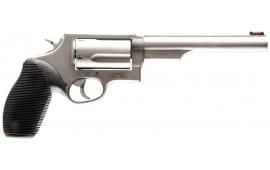 "Taurus .2441069 Magnum Judge Tracker Magnum DA/SA 410/45LC 6.5"" 5rd FOF Black Ribber Grip Matte Stainless Steel"