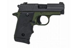 Sig Sauer P238 380 ACP Pistol, Army Green 2Tone SAO NS 7rd - 238380AGF