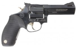 Taurus 44 Tracker 44RemMag Revolver, 4in Barrel Adj Sights Ported 5rd Ribber Grip Blued - 2440041TKR