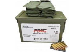 PMC .223 Rem - 55 Grain FMJ Boat Tail - On Stripper Clips / 6 Bandoleers in Ammo Can - 840 Rounds Per Can - Mfg # PMC223-AMB