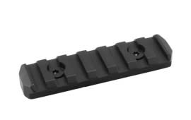 Mission First Tactical Tekko Metal KeyMod 3in Barrel Rail 7 Slot Black - TMKMR3